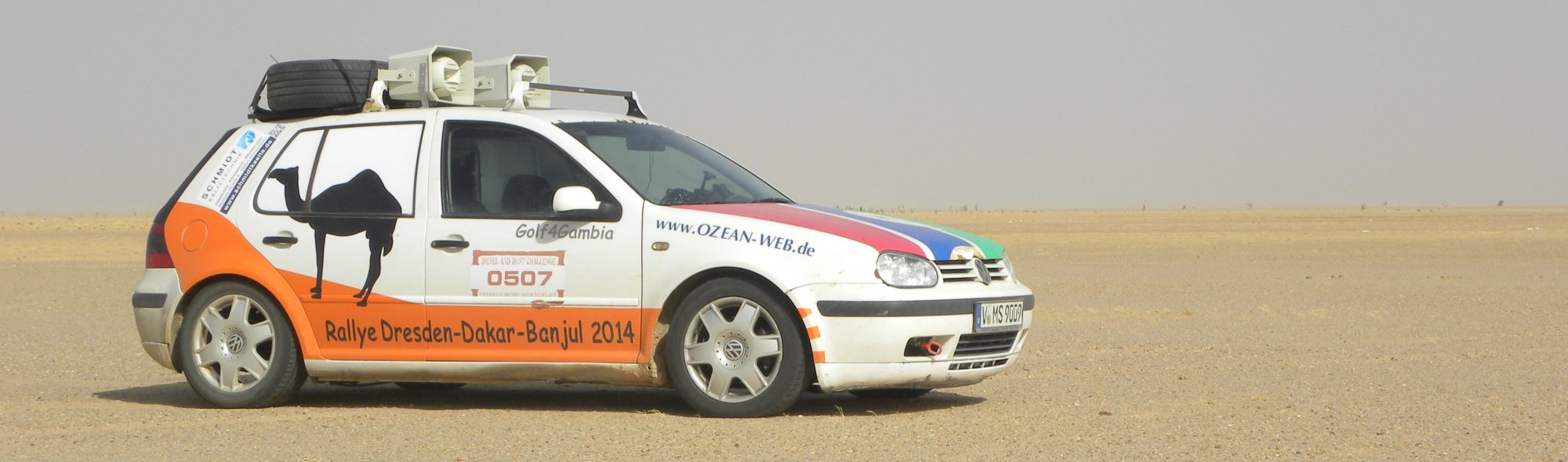 Golf4Gambia 2 / Rallye Dresden – Dakar – Banjul 2019